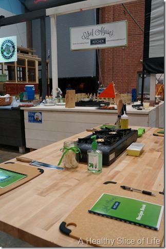 Chef Alyssa's Kitchen Cooking Class Atherton Mill- set up
