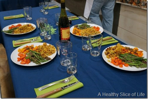 Chef Alyssa's Kitchen Cooking Class Atherton Mill- time to eat