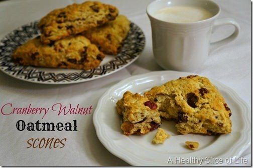 cranberry walnut and dark chocolate oatmeal scones- 1