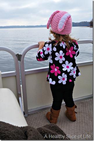 hailey on boat