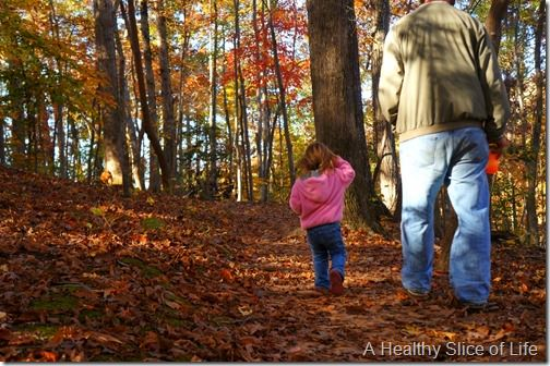 hiking toddler