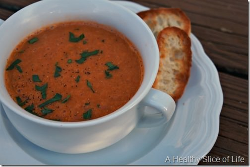 tomato and sweet onion soup- close up