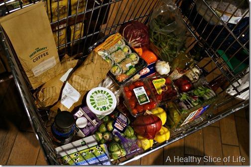 Christmas prep- The Fresh Market cart