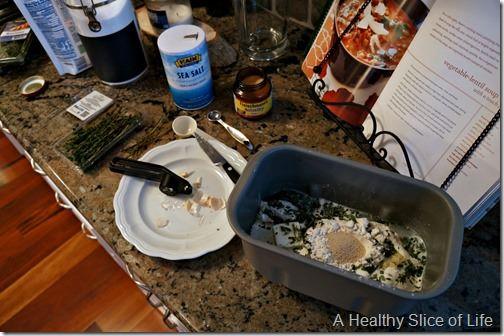 Christmas prep- making bread