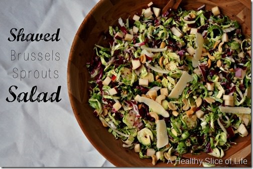 Christmas prep- shaved brussels sprouts salad- with homemade vinaigrette