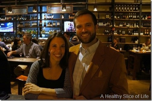 baby #2 gender reveal date night- roosters wood-fired kitchen charlotte bar area