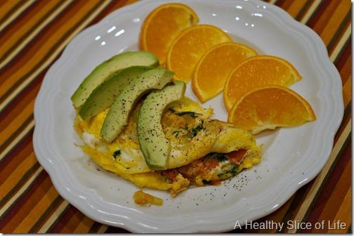 back on track- salad omelet