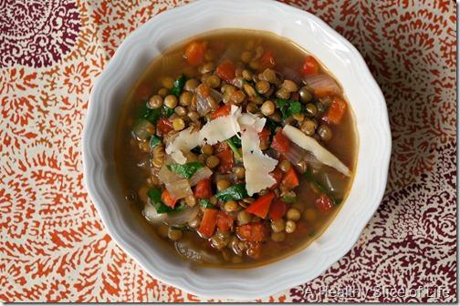 back on track-vegetable lentil soup