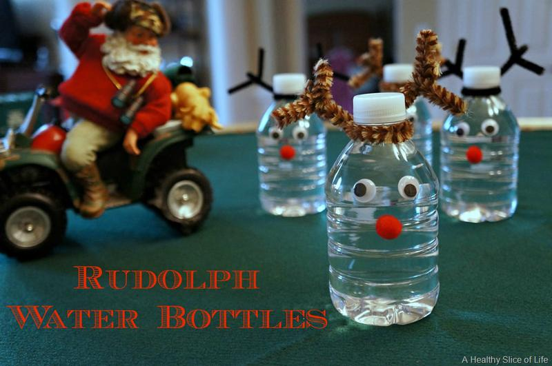 healthy christmas snacks for kids rudolph water bottles 1