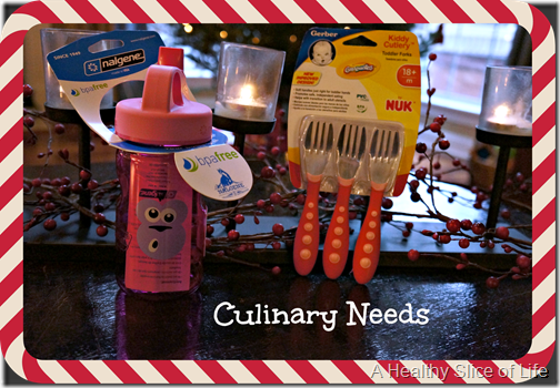 toddler stocking stuffers- water bottles and forks