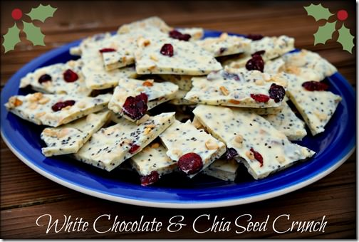 white chocolate and chia seed crunch- cover