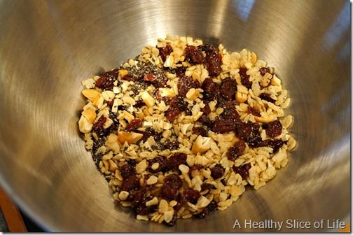 white chocolate and chia seed crunch- mix ins