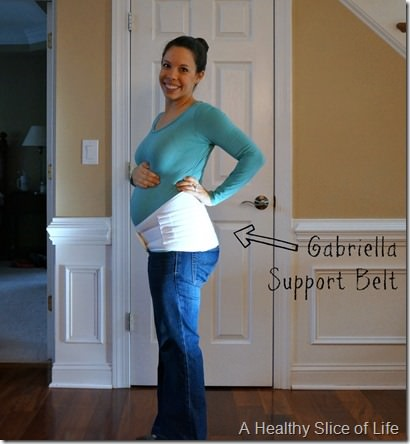 25 weeks pregnant- gabriella support belt