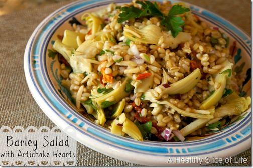 barley salad with artichoke hearts