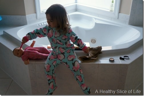day in the life with a two year old- brushing teeth and getting dressed