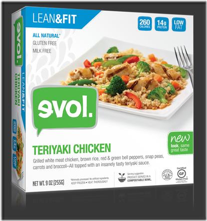 evol foods lean and fit teriyaki chicken