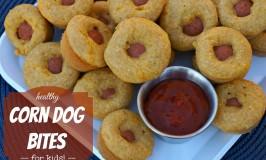 Healthy Corn Dog Bites for Kids