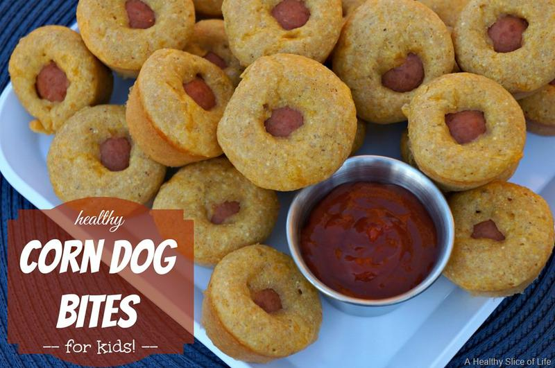 Healthy Corn Dog Bites for Kids
