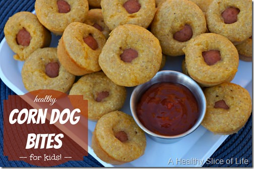 healthy corn dog muffins for kids cover thumb {Recipe} Healthy Corn Dog Bites for Kids