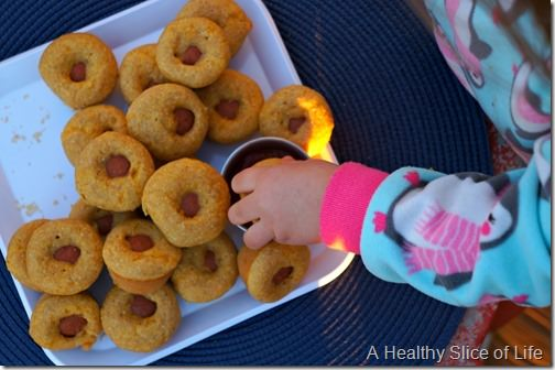 healthy corn dog muffins for kids- toddler friendly