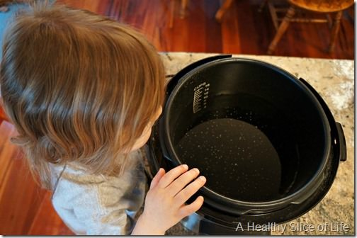 kids in the kitchen- dried beans