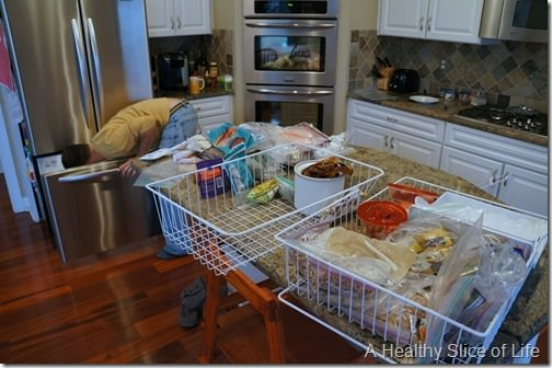 organization challenge day 5- freezer clean out during