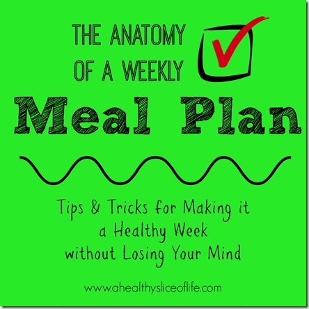 the anatomy of a weekly meal plan