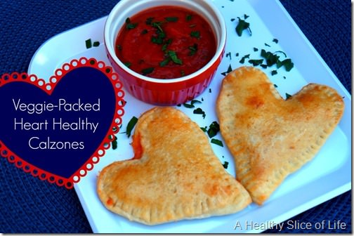 veggie packed heart healthy calzones