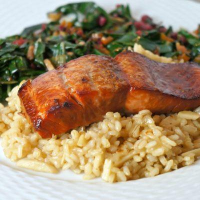 Brown Sugar & Bourbon Glazed Salmon