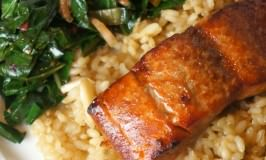 Brown Sugar & Bourbon Glazed Salmon
