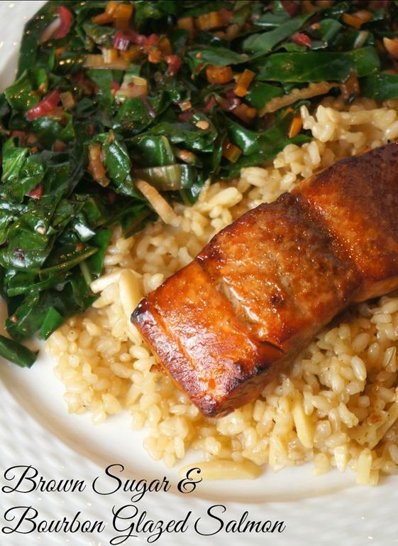 Brown Sugar and Bourbon Glazed Salmon