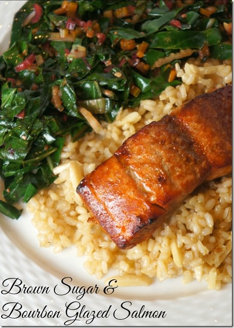 brown sugar and bourbon glazed salmon- easy and delicious