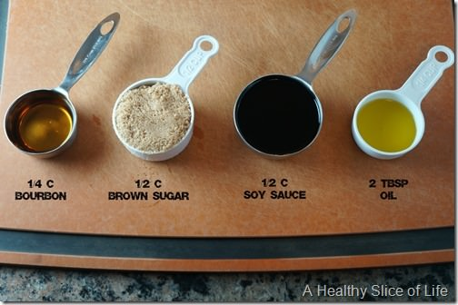 brown sugar and bourbon salmon- marinade ingredients