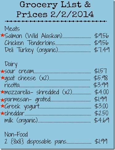 detailed harris teeter grocery list- 1