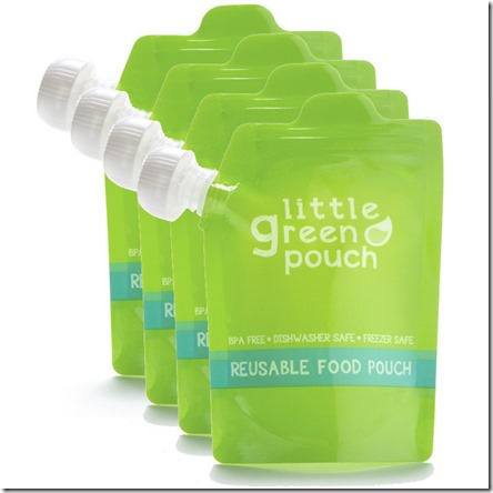 little green pouch- reusable baby food pouch