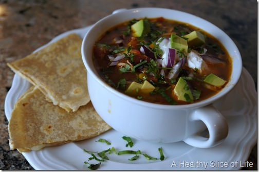 visual meal plan- chicken tortilla soup
