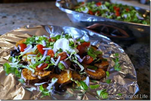 visual meal plan- sweet potato nachos