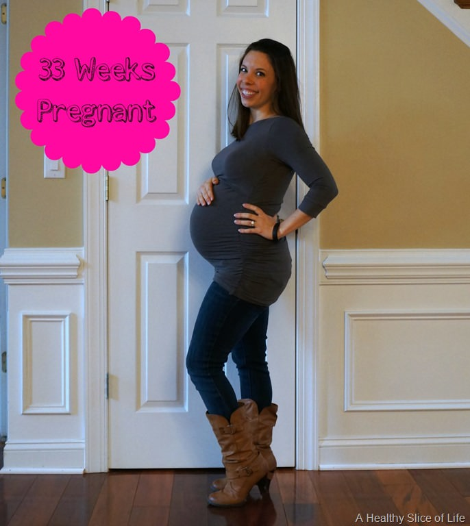 Somehow an entire month has flown by and I'm now 33 weeks pregnant ...