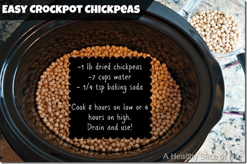 easy crockpot chickpeas