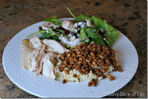 roasted chicken with field peas