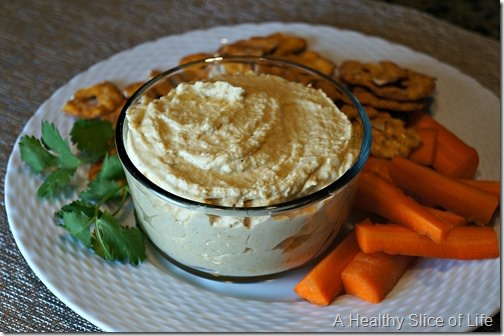 tahini free- garlic and lemon hummus