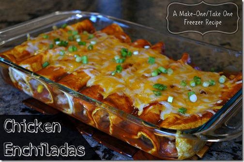 chicken enchiladas- make one take one recipe