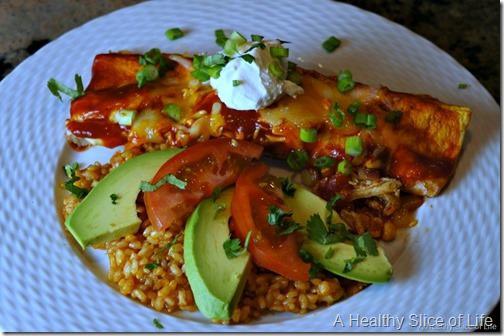 chicken enchiladas- plated