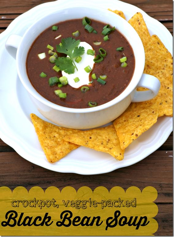 crockpot black bean soup- 1