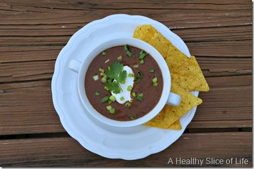 crockpot black bean soup- 3