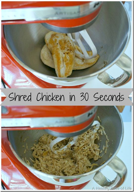 shred chicken fast