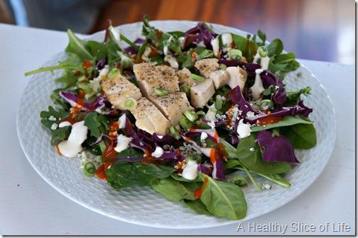 simple buffalo chicken salad