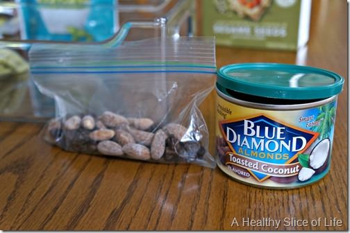 simplify healthy snacking for toddlers and kids- blue diamond coconut almonds