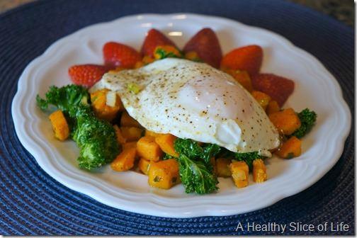 sweet potato breakfast hash with egg