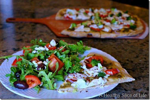 visual meal plan pesto pizza